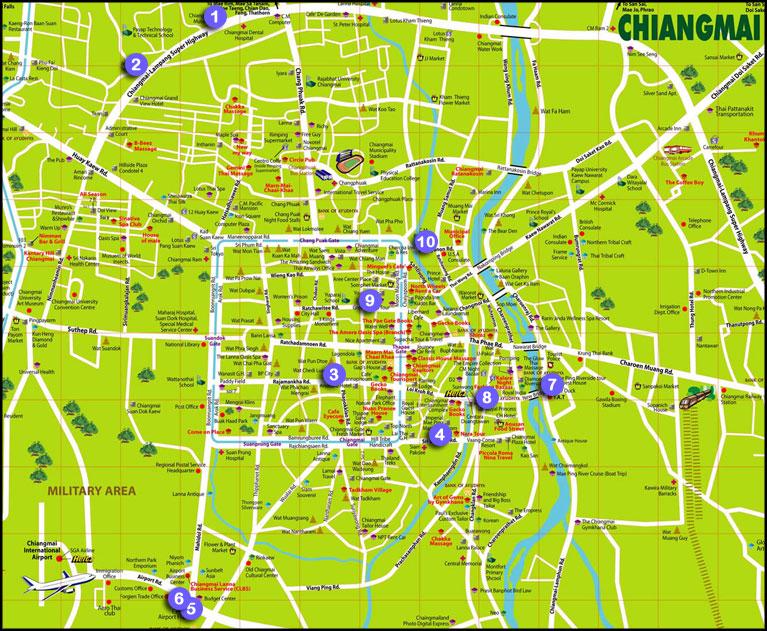Find vej i Chiang Mai