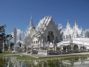 The White Temple i Chiang Rai, Nordthailand