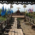 Tempel ude på søen