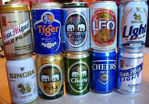 Øl du kan købe i Thailand
