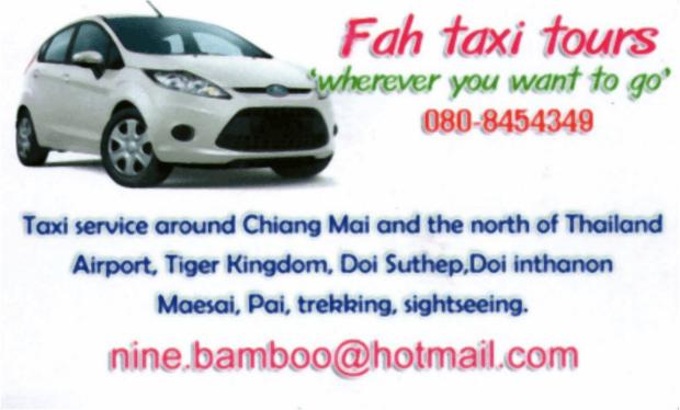 Fah Taxi Tours Chiang Mai