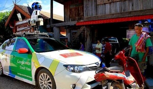Google Maps bil stoppet i Phrae i Nordthailand