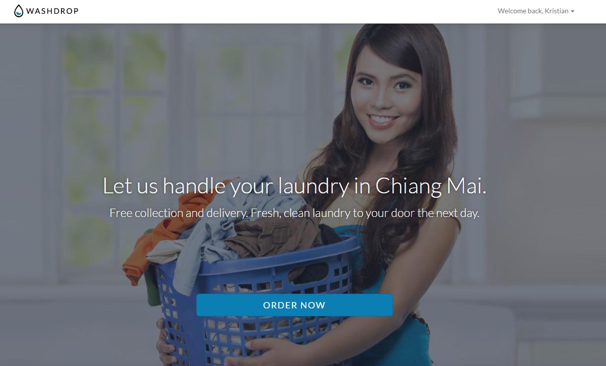 Få dit vasketøj hentet og bragt tilbage (rent)