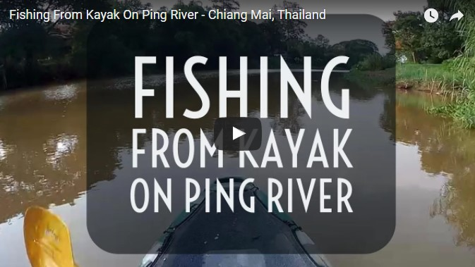 Fiskekajak på Ping River