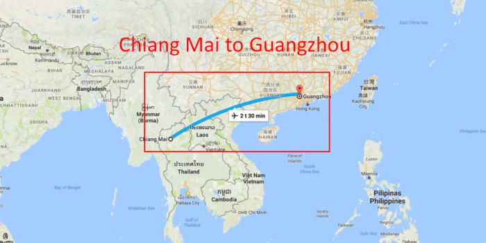 NY FLYRUTE: Chiang Mai – Guangzhou