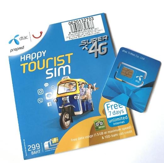 Mobil og sim-kort i Thailand